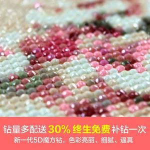 高档5D<span class=H>钻石画</span>卡通满钻贴钻十字绣魔方钻韩式结婚礼卧室餐厅新款。