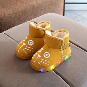 亮灯雪地靴宝宝鞋冬季2020新款中小童男童加绒保暖女童休闲棉鞋