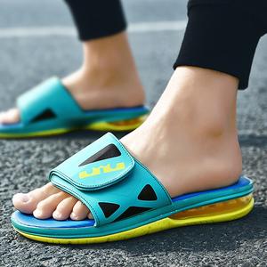 拖鞋男夏季休闲篮球拖鞋运动韩版防滑室外一字拖气垫沙滩凉鞋子潮