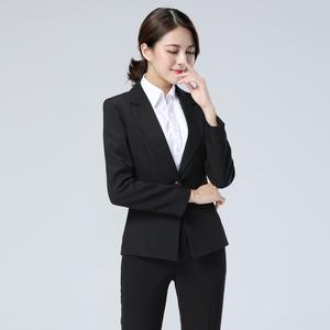 职业女西装OL长袖西服<span class=H>小西装</span>套装商务正装面试工作服上衣