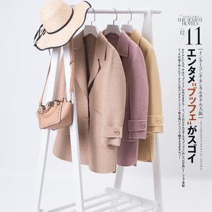 双面呢羊毛大衣女中长款2018秋冬装纯手工宽松薄款大码女外套