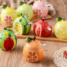 Creative Fruit and Ceramic Seasoning Tank Household Cute Home Kitchen Goods Receiving Combination Seasoning Oil and Salt Tank with Cover