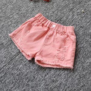 十9女大童牛仔<span class=H>短裤</span>7小女孩子外穿的5夏季4新款时尚8-12岁13热裤15