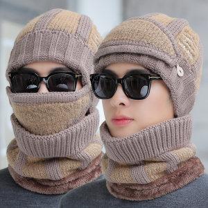 <span class=H>帽子</span>男冬天韩版加绒加厚防风保暖口罩护耳骑车冬季男士针织毛线帽