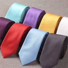 Narrow Tie Necktie male Korean Edition casual color 6CM wedding ceremony bridegroom occupation small fine red black blue white purple ash yellow