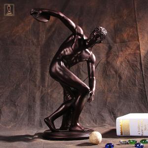 欧式美式家居摆设 掷铁饼<span class=H>者</span><span class=H>雕塑</span>模型 人物塑像收藏艺术品树脂摆件