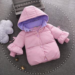 0-1-2-3岁女宝宝秋冬加厚羽绒棉袄小童棉服4女婴童外套幼童秋冬装