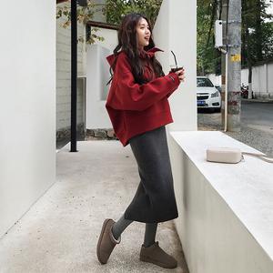 秋装女2018新款网红同款卫衣配裙子套装<span class=H>时尚</span>港风洋气长裙两件套潮