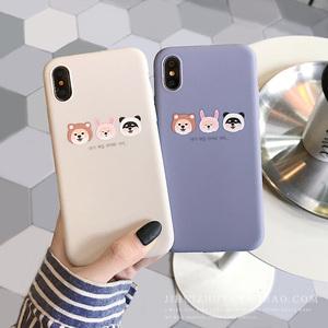 可爱卡通狗狗iPhoneXS MAX<span class=H>手机壳</span>XR简约女6s<span class=H>苹果</span>7Plus/8p磨砂软壳