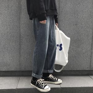 ROCKY家 秋冬新款chic潮男直筒<span class=H>牛仔裤</span>韩版潮流宽松长裤港风男裤子