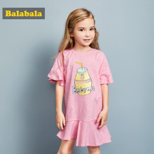 Balabala Children's Princess Skirt Girls Spring and Summer Lady Dresses Children's Dresses Baby Skirt