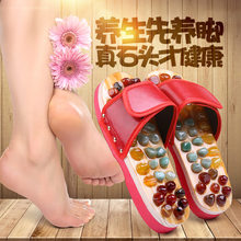 Home pebble massage slippers sole acupoint foot therapy shoes men's non-skid household sandals women's summer indoor