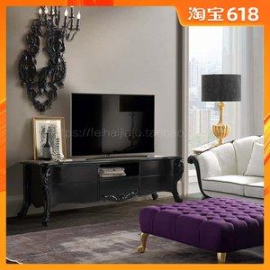 新款出口Taeuber美式乡村小户型客厅电视机柜复古储物地柜影视柜