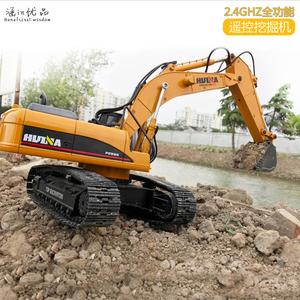 遥控大型工程车<span class=H>遥控车</span>合金电动儿童玩具男孩礼品挖土超大号挖掘机