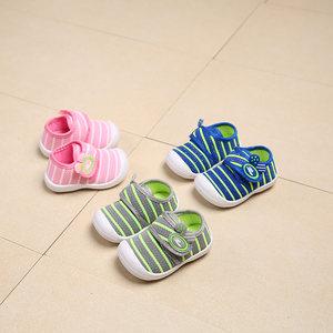 春秋季新款儿童机能鞋0-1-2岁婴幼儿软底学步鞋男女宝宝帆<span class=H>布鞋</span>子