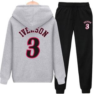 76人<span class=H>艾弗森</span>球衣艾佛森<span class=H>外套</span>篮球<span class=H>卫衣</span>男连帽帅气潮男士休闲运动套装