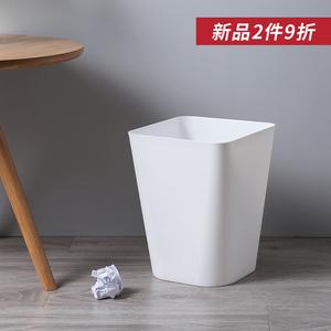 无盖<span class=H>垃圾桶</span>家用厨房客厅卧室卫生间方形纸篓创意北欧办公室垃圾筒