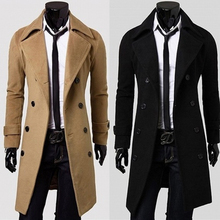 Windswear Men's Korean Edition of Long-style Spring and Autumn Wool Overcoat Men's Wool Overcoat Men's Wear Men's Fashion for Youth