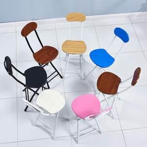 便捷不锈钢凳子圆凳餐桌凳活动餐椅靠背凳家用黑色棋牌椅椅子办工