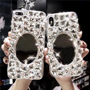 iphoneXs max<span class=H>苹果</span>8plus手机壳7水钻镜子XR保护套6全包硅胶女软壳
