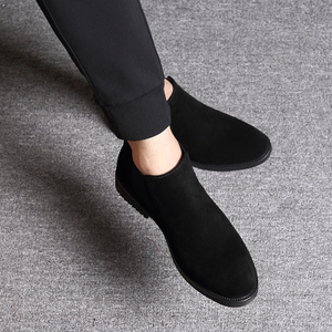 高帮鞋男反毛皮磨砂皮鞋子潮休闲冬季棉加绒保暖翻毛皮马丁靴<span class=H>男鞋</span>
