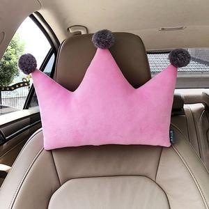 皇冠<span class=H>汽车</span>头枕<span class=H>靠枕</span>卡通车用护颈枕腰枕靠垫可爱创意车载枕头一对女