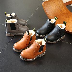 女童靴子春秋英伦风儿童马丁靴女公主韩版百搭<span class=H>男</span>童<span class=H>小童</span><span class=H>短靴</span>冬季鞋