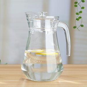 凉水壶玻璃耐热凉水杯凉白开水壶<span class=H>冷水壶</span>家用果汁扎壶大容量鸭嘴壶