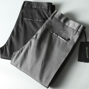 DXIAN高端新款男裤舒服弹力面料商务休闲男士直筒修身休闲裤<span class=H>西裤</span>