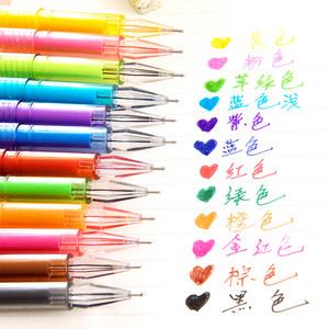 包邮 创意文具钻石笔头彩色中性笔12支装 可爱小清新水笔记号笔
