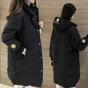反季冬季<span class=H>棉衣</span>女中长款学生韩版2018新款宽松百搭加厚棉服棉袄外套