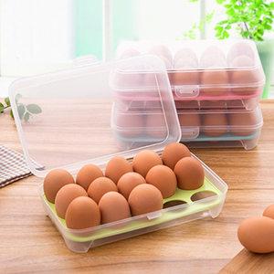 冰箱鸡<span class=H>蛋盒</span>食物保鲜盒鸡蛋托鸡蛋<span class=H>格</span>厨房透明塑料盒子放鸡蛋收纳盒