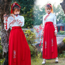 The New Republican Style Women's Clothing Improvement Han Suit Women's Summer Skirt Antique Hansu Daily Clothing Chinese Style Suit Class Clothing