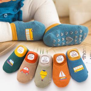 婴儿袜子秋冬宝宝毛圈地板袜6-12个月男女童学步防滑袜1-3岁<span class=H>袜套</span>