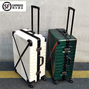 行李箱<span class=H>拉杆箱</span>万向轮女20直角24寸男26学生复古<span class=H>皮箱</span>子28密码旅行箱