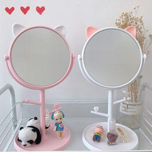 椭圆形风扇高度梳妆镜子美式新款<span class=H>化妆镜</span>大号 超大 化妆台式 桌面