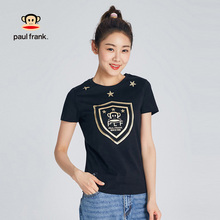 Paul Frank/Monkey Sports T-shirt Women Summer Short Sleeves 2018 New Pure Cotton Loose Running Leisure Slim