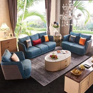 后现代简约<span class=H>沙发</span>123组合轻奢别墅客厅整套装意大利三人皮<span class=H>沙发</span>定制