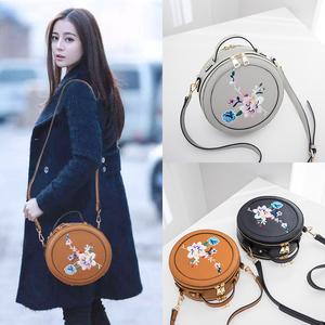 圆形包包女2019新款韩版手提包单肩斜挎小包女包时尚小圆包潮