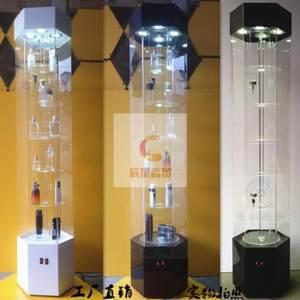 珠宝样品展示柜小商品灯光服装店圆形落地式理发店亚克力展会前台