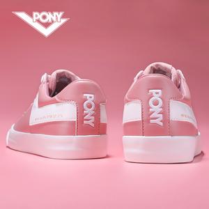 pony女鞋低帮<span class=H>板鞋</span>夏季透气波尼粉色休闲时尚百搭<span class=H>运动鞋</span>女<span class=H>滑板鞋</span>女