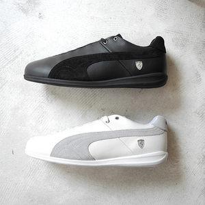 美国代购正品<span class=H>彪马</span><span class=H>男鞋</span> <span class=H>PUMA</span> Future Cat LS 赛车系列黑白休闲板鞋