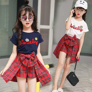 8女童夏装<span class=H>套装</span>2018新款4<span class=H>韩版</span>5小女孩6<span class=H>夏季</span>7短袖9两件套裙子12岁10