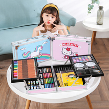 Children's Painting Brush Set Artistic Supplies Painting Tool Crayon Watercolor Pen Set Primary School Students Painting Stationery Girls