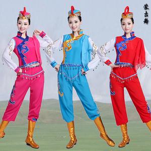 蒙古舞蹈<span class=H>服装</span>演出服女筷子舞打鼓服成人蒙族<span class=H>女装</span>民族风舞台表演服