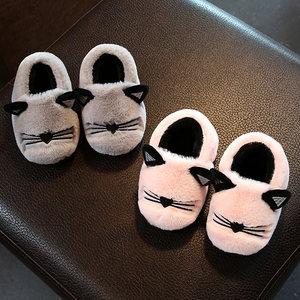 儿童棉<span class=H>拖鞋</span>冬季包跟男童女童宝宝亲子毛毛<span class=H>拖鞋</span>保暖家居家小孩棉鞋
