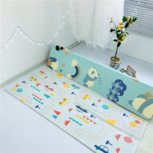 Children's folding floor mat can be used as front and back screen cartoon digital learning crawling mat cute