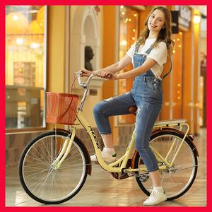 凤凰24寸26成人男女式淑女士学生代步老式通勤轻便城市普通<span class=H>自行车</span>