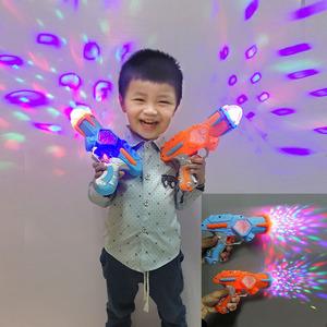 七彩投影儿童电子<span class=H>玩具枪</span>手枪 男女宝宝发光音乐声光手枪3-6岁