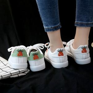 小白鞋<span class=H>女鞋</span>新款时尚休闲百搭系带女士平底鞋学生青年休闲板鞋
